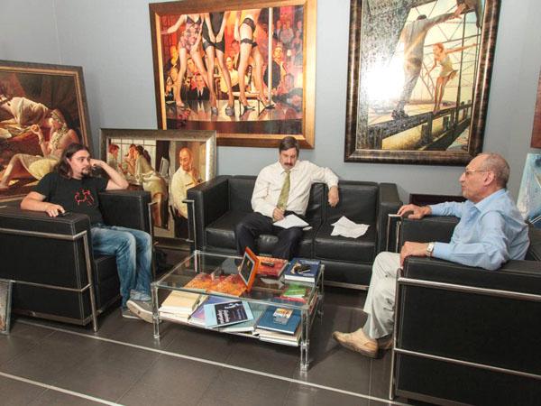 Писатель Дмитрий Володихин берёт интервью у нашего автора Саши Кругосветова.