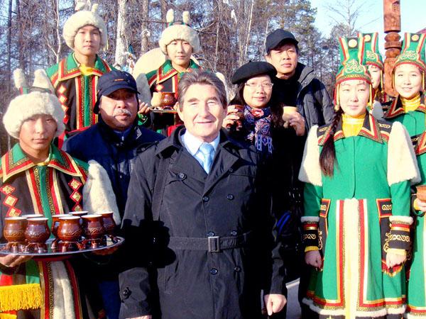 поэт-сатирик Марсель Салимов на Международном фестивале Благодать большого снега в Якутии