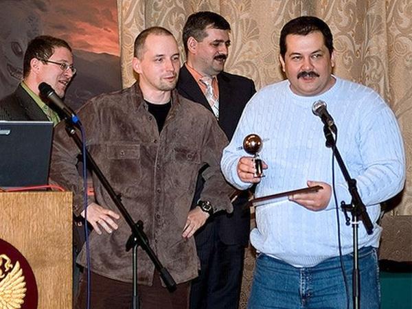 Ник Перумов и Сергей Лукьяненко на одном из предыдущих фестивалей Роскон